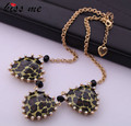 Fashion accessories leopard print heart Women necklace Factory Wholesale