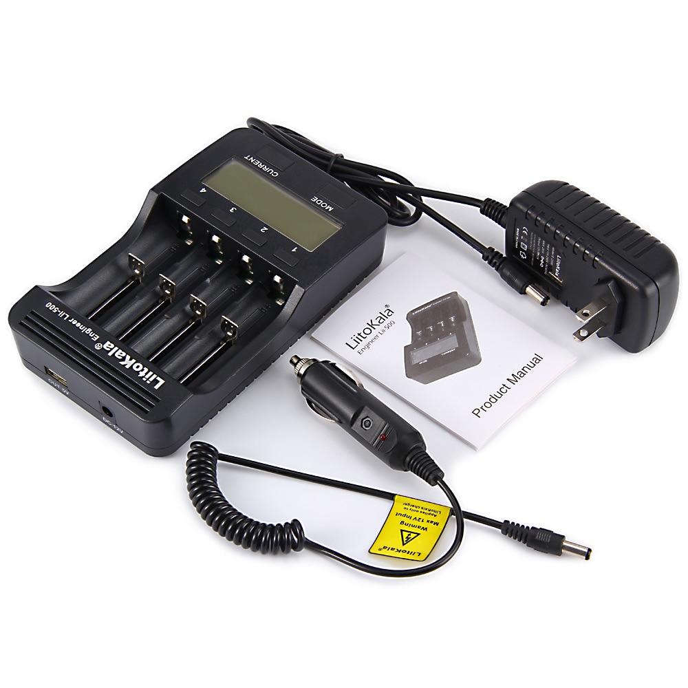 (Enchufe de la UE) liitoKala lii-500 LCD 3,7 V 1,2 V 18650 26650 16340 14500 10440 18500 20700B 21700 cargador de baterías con pantalla
