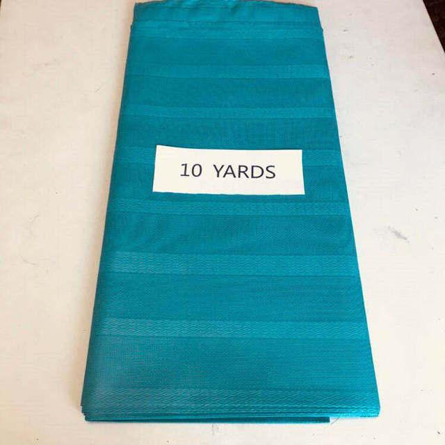 Nigeria colore aqua atiku cotone materiale atiku tessuto per il partito nuovo prezzo poco costoso atiku uomini tessuto 10 yards