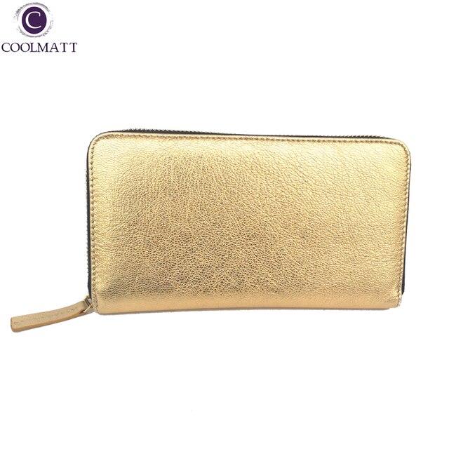 2017 New Arrival Design Itaily Imported Whole Sheepskin Women S Wallet Clutch Long Ykk Zipper Luxury