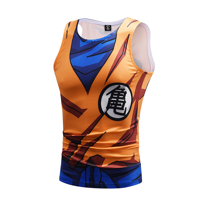 Tidal card animation seven dragon bead 3D print tank tops fitness cloth GOKU Sweat-absorbent fitness tank tops