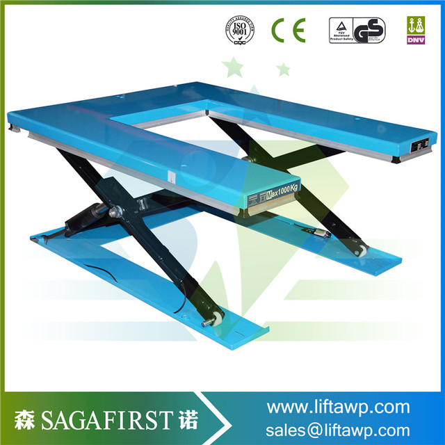 1000kg Hydraulic Fixed Roller Conveyor Scissor Lift Table