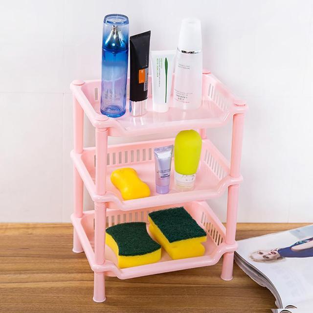 Storage Holder Plastic Corner Organizer Bathroom Caddy Shelf Kitchen ...