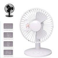 4W USB Shaking Head Rotation Cooling Fan Ultra Quiet Household Appliances Office Desktop Fan 2 Speed