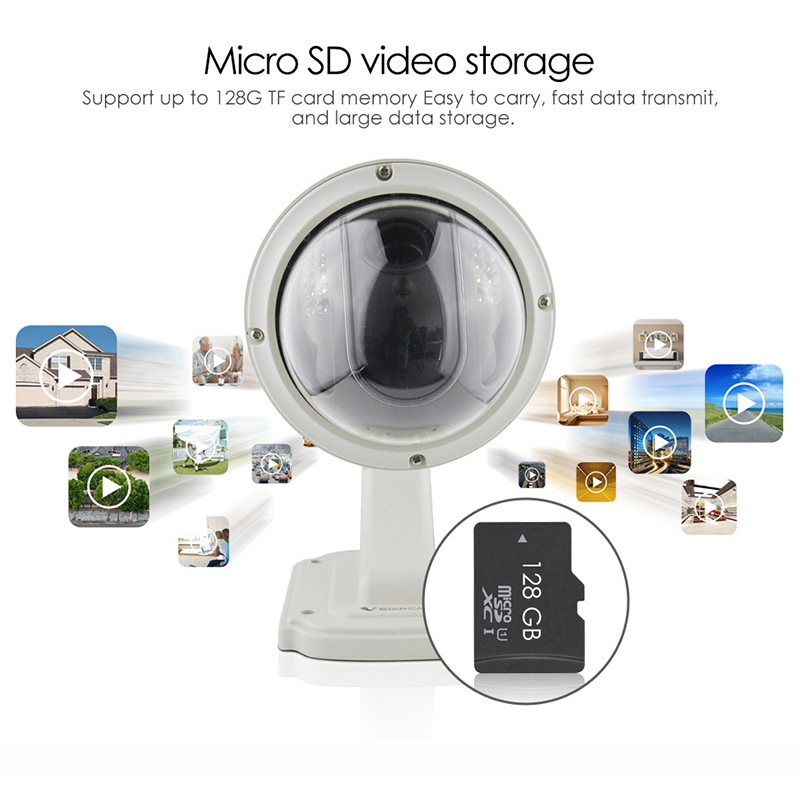 720P HD Wireless WiFi IP Camera Security Outdoor Night Vision 2MP IR Cut Network Webcam Camcorder Surveillance Dome Waterproof