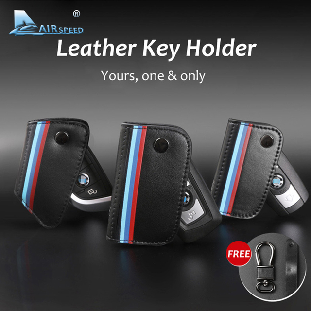 Airspeed Genuine Leather Car Key Holder Wallet Key Bag Key Cases Christmas Gifts for BMW G30 X1 X3 X5 X6 E46 E90 F10 F30