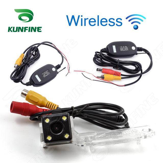 Wireless CCD Track Car Rear View Camera For Skoda Superb 2009/10/12 Parking Assistance Camera Trackline Night Vision LED Light