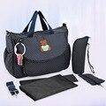 Новый многофункциональный пеленки сумки мать мешок материнства высокое качество мумия подгузник сумки цветок стиль мама сумка детские коляски сумку