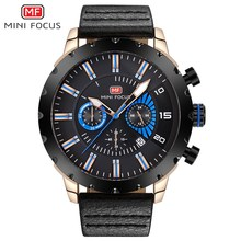 MINI FOCUS Mens Watches Top Brand Luxury Waterproof 24 hour Date Quartz Watch Man Leather Sport Wrist Watch Men Waterproof Clock big dial watches men hour mens watches top brand luxury quartz watch man leather sport wrist watch clock alloy strap