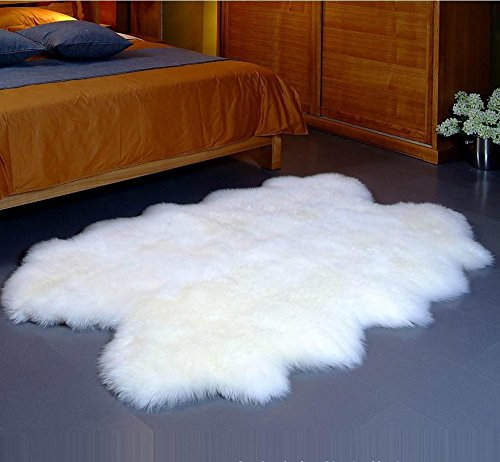 Genuine Real Sheepskin Rug Australian Royal Four Pelt Extra Large Quarto Fur Area Bedroom Carpet In From Home