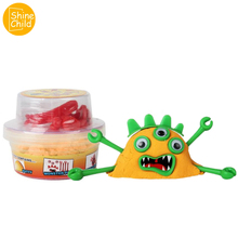 Monster Space Sand Six Color Container Charm Moving Play DIY Model Accessories Maker Fimo Educational 3C Toys Tool Kit kids
