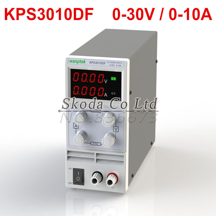 Wanptek Mini Adjustable DC power supply KPS 3010DF 0~30V 0~10A 110V/220V, Switching Power supply 0.01V/0.001A US/EU/AU Plug original lw mini adjustable digital dc power supply 0 30v 0 10a 110v 220v switching power supply 0 01v 0 01a 34 pcs dc jack