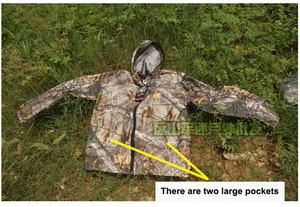 Image 5 - Anti mosquito breathable Mens bionic Pine camouflage suit Outdoor Jacket Men Army Sport Hunting Clothes fishing coat