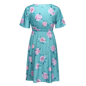 Maternity Pregnant Dresses with Short sleeves 2