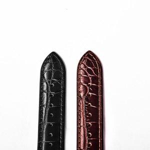 Image 5 - الشعاب النمر/RT عالية الجودة 22 مللي متر حقيقية جلد العجل حزام مع نشر مشبك دائم حزام (استيك) ساعة للرجال