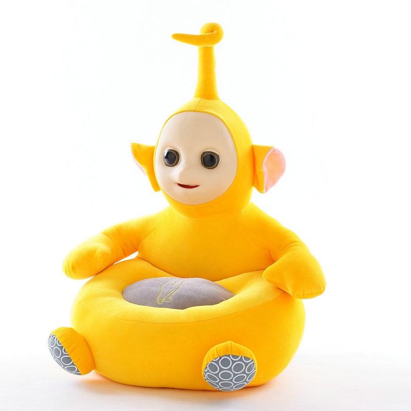 Teletubbies enfants apprendre chaise bébé poupée Tele tubbies tinky winky Dipsy Laa Po film peluche 3D Silicone visage jouets pour enfants - 6