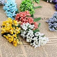 12 шт./лот искусственный цветок тычинки провод стволовых/брак листья тычинки DIY ВЕНОК свадебное украшение коробка