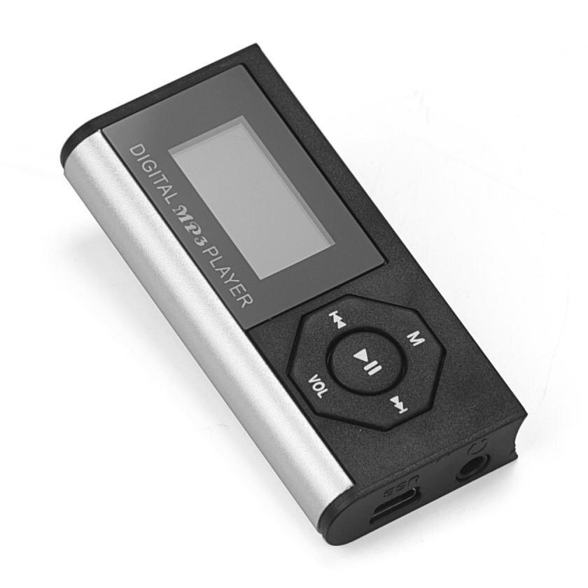 Мини mp3 hifi-плеер Mini-USB MP3 Музыка Media Player ЖК-дисплей Экран Поддержка 16 ГБ Micro SD карты памяти Спорт наушники MP3 плеер
