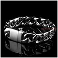 "8.66""*15mm 91g High Polishing Fashion 316L Stainless Steel Silver Curb Cuban Chain Tone Men's Boy's Bracelet Bangle Not Fades"