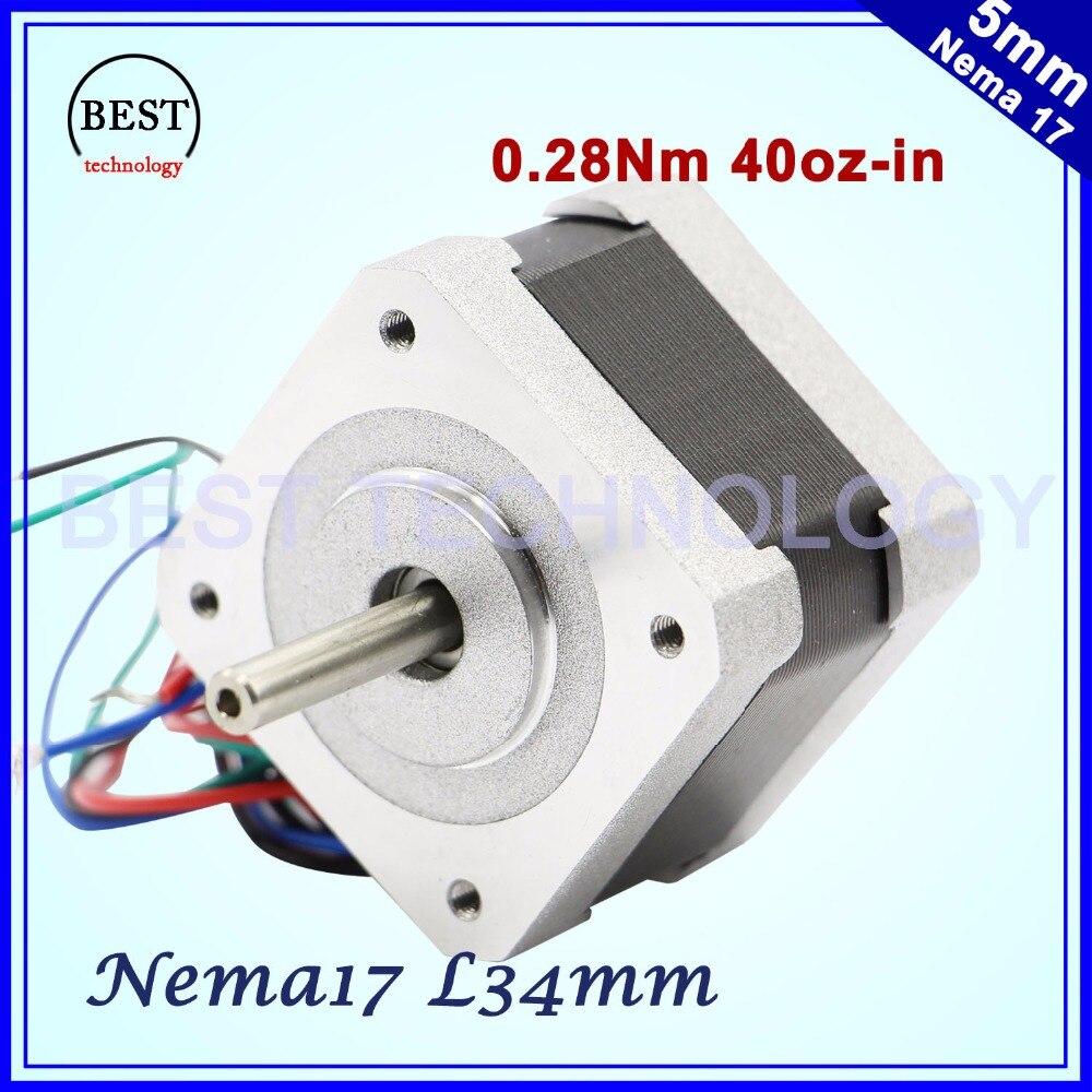 Бесплатная доставка! Nema17 шаговый двигатель 42x34 мм 0.4A 0.28N.m 1,8 градусов 40Oz-in Nema 17 4-Ведущий для 3D принтер для ЧПУ! 42HS3404A4