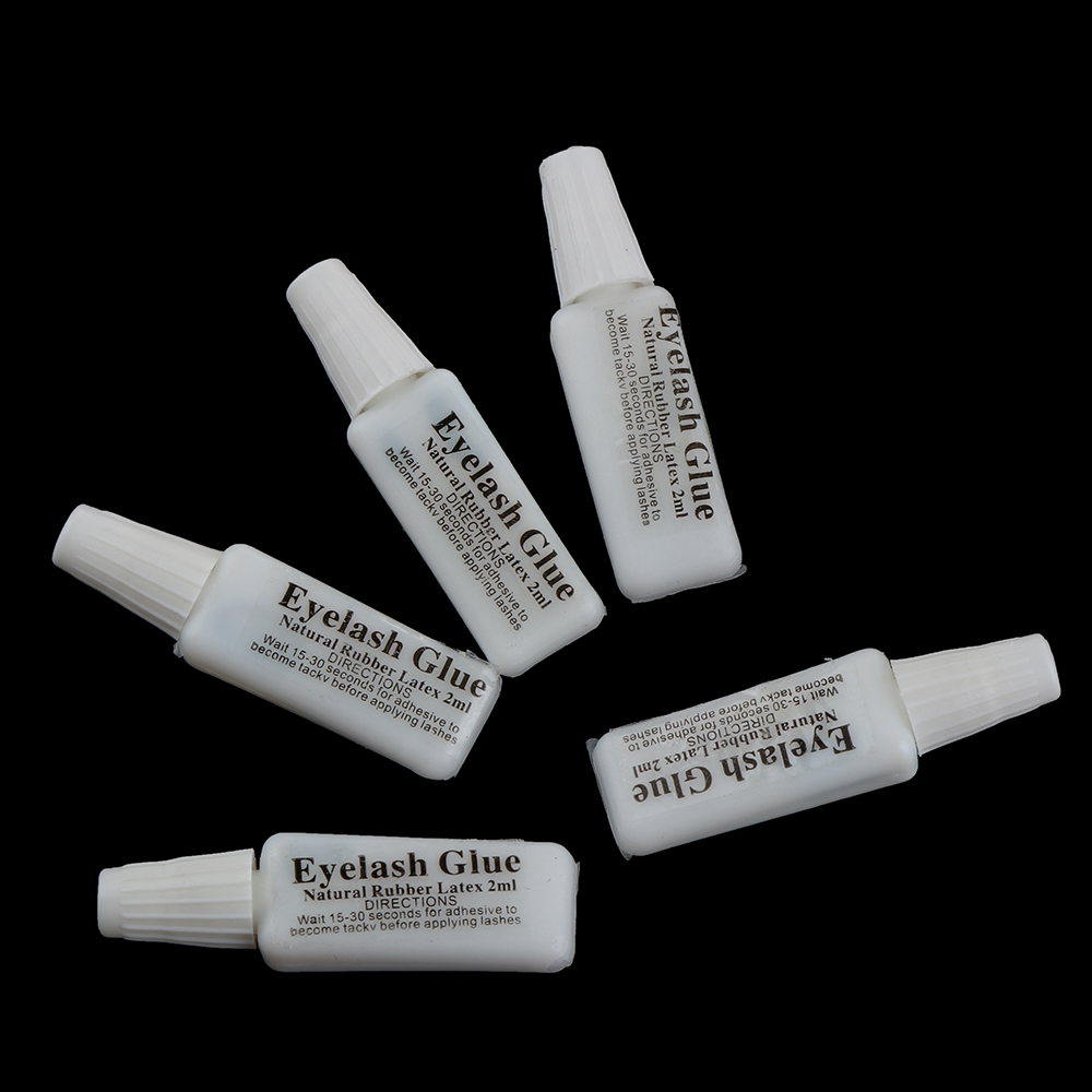1/5 pcs White Eyelash Glue Lash Glue Natural Invisible ...