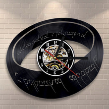 "Free Shipping 1Piece Creative 3D Art Wall Timepiece 12""Digital Decorative Wall Clock LP Vinyl Records  Novelty Home Decoration"