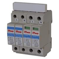 Тау AP B + C/10 2 P однофазный B + C защиты 4 modulars iimp 50KA до 1.5KV комплекс питания surge protector