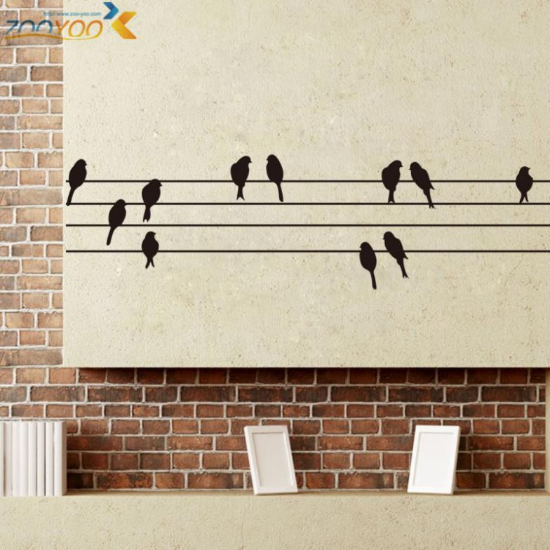 Creative Birds Wall Stickers Home Decorations Zooyoo8226 Bedroom Decal Wall Sticker 3d Diy Removable Vinyl Wall