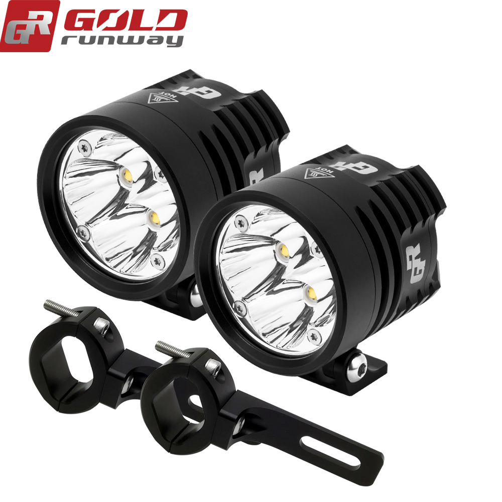 2 Pcs GOLDRUNWAY GR EXP4 2.36 INCH Motorcycle Led Fog Spot Lamp 24W XP G3 LED Auxiliary Fog Passing Light Motorcycle Led Lights