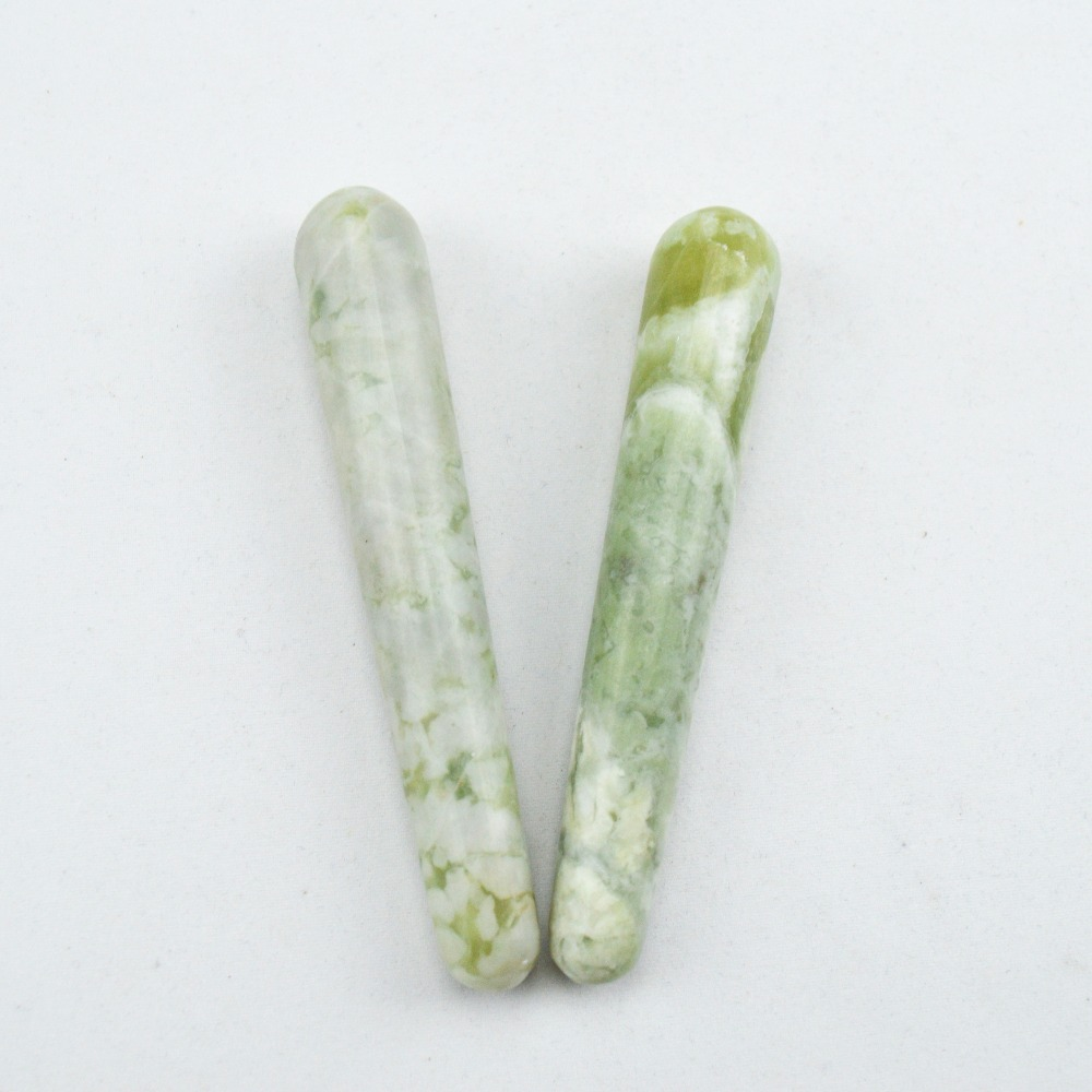 100% Natural jade massage stick beauty massage wands for body massage yoni wand health care