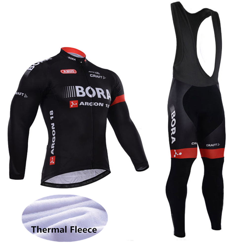 2018 Winter Fleece Thermal Cycling Team Bora Cycling Jersey Wear Clothing Maillot Ropa Ciclismo Mtb Bike Bicycle Long Clothing 2017 bike team cycling jersey sets ropa ciclismo mtb bicycle cycling clothing maillot ciclismo cycling wear bike jersey clothes