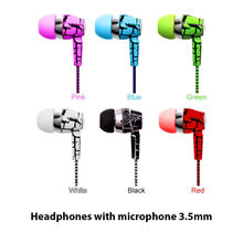 Original Mobile Earphones Ice Cracks Earphone Weaving line Earpiece with Microphone For iPhone Samsung earbuds for Huawei xiaomi