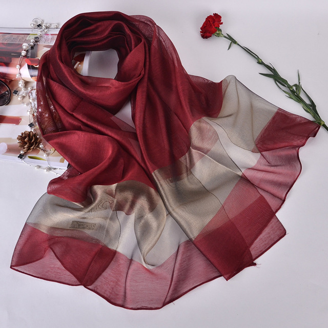 Brand 2018 New Style Womens Shawl Gradient Design Silk Luxurious Scarf Big  Size Hijab Fashion Silk Scarves for Women efc487a4d53ed
