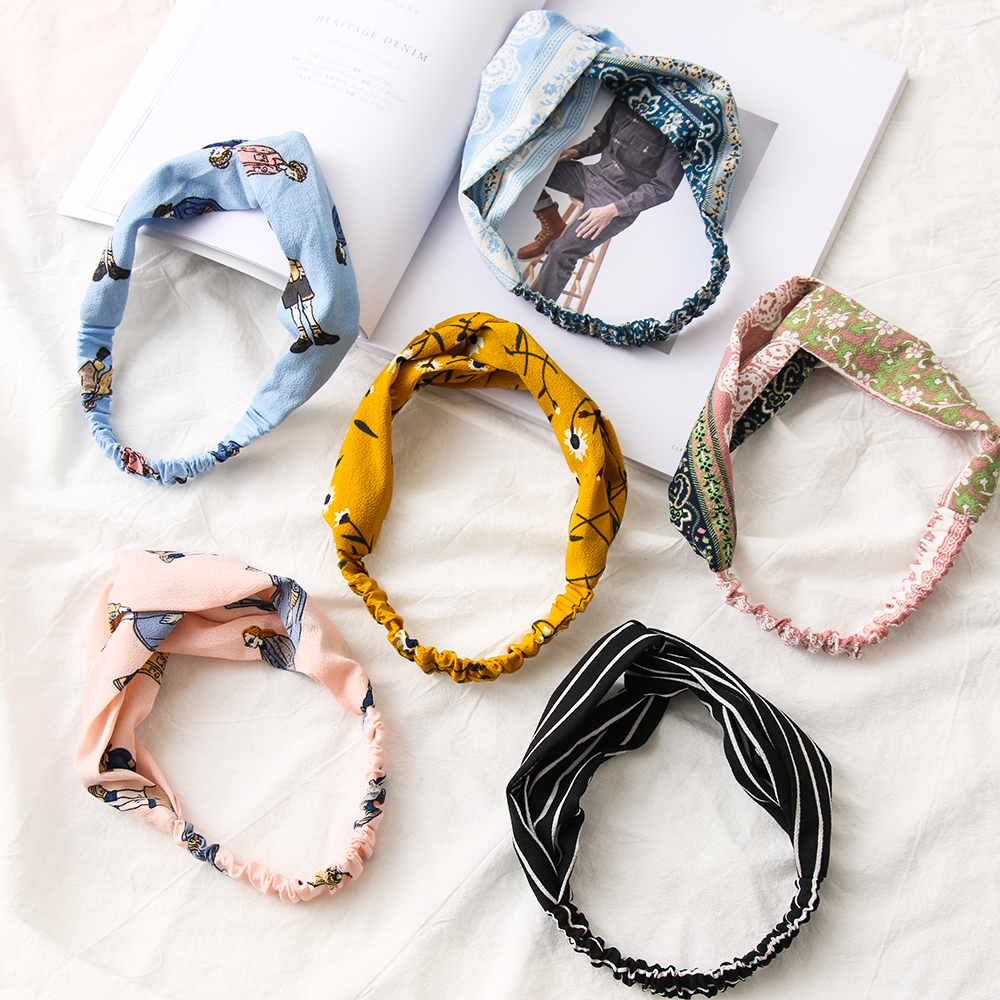 Trend hair accessories knot headband stripes turquoise knotted headband women headband headband girls women gift idea