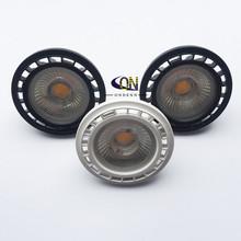 1 sztuk darmowa wysyłka 12V G53 GU53 ściemniania LED AR111 wbudowany lampa halogen 10W 15W GU10 LED AR111 światła ES111 reflektory LED AC85-265V tanie tanio ONDENN Przemysłowe ROHS 5years AR111-GU10 Nikiel szczotkowany 85-265 v Żarówki led