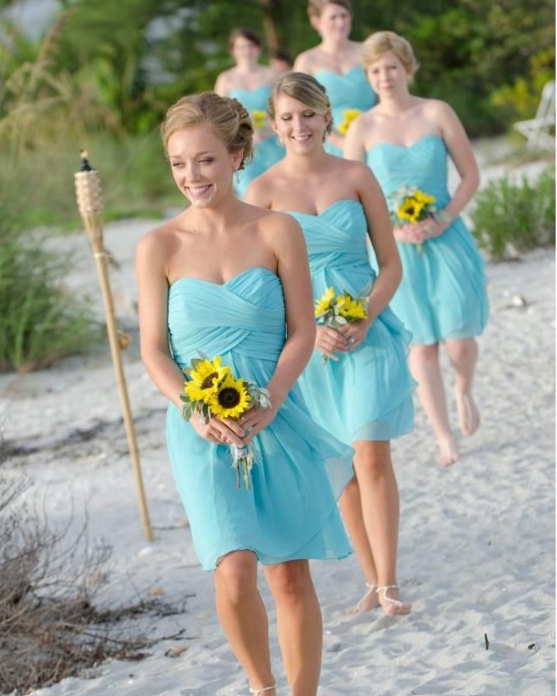 Popular short bridesmaid dresses under 50 buy cheap short high quality sky blue and coral short cheap bridesmaid dresses under 50 chiffon short prom wedding ombrellifo Images