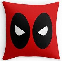 Deadpool Rojo Comodidad Fresca Throw cubre Sistemas del Lecho 16×16 18×18 20×20 24×24 pulgadas Dos Suitbale Tamaño de Funda de Almohada Cubierta