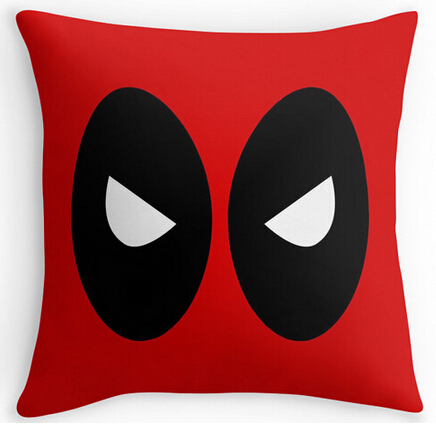 Deadpool Red Cool Comfort Throw covers Bedding Sets 16x16 18x18 20x20 24x24 inch Two Size Suitbale Pillowcase Cover