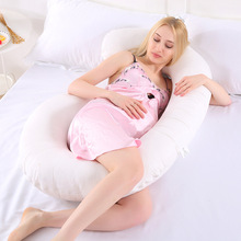 Pregnant Women Sleeping Support Pillow Soft 100% Cotton U-shaped Comfortable Pad Side Sleepers