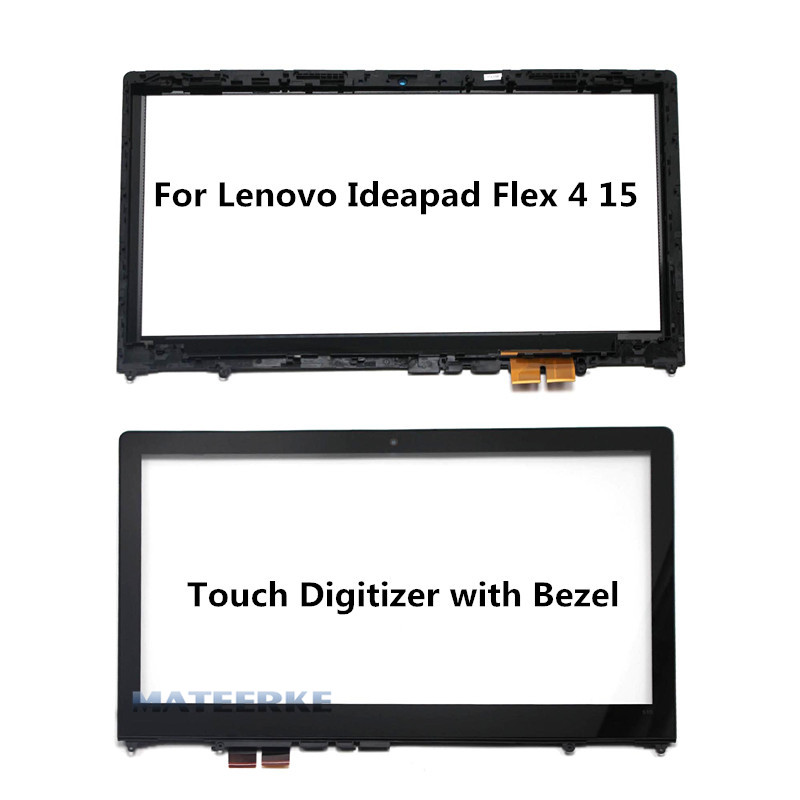 15.6 inch Laptop Touch Glass with Digitizer For Lenovo Ideapad Flex 4 15 Flex 4-1570 Flex 4-1580,with Frame 3 4 4 4 1 2 1 4 1 8 1 16