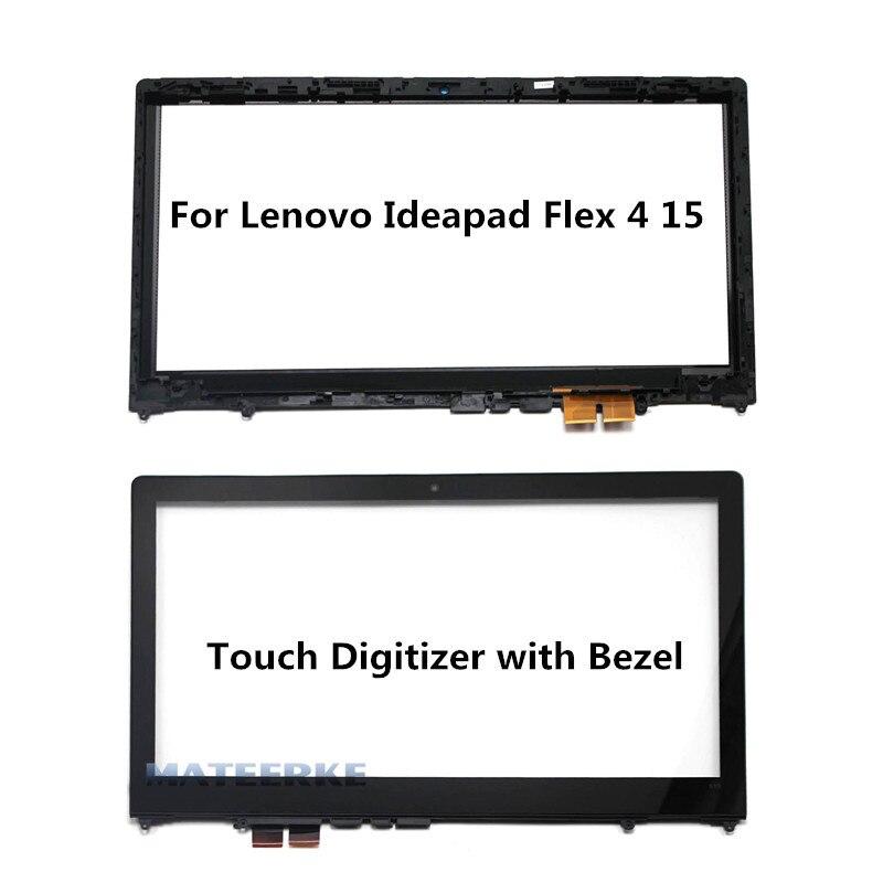 15.6 inch Laptop Touch Glass with Digitizer For Lenovo Ideapad Flex 4 15 Flex 4-1570 Flex 4-1580,with Frame