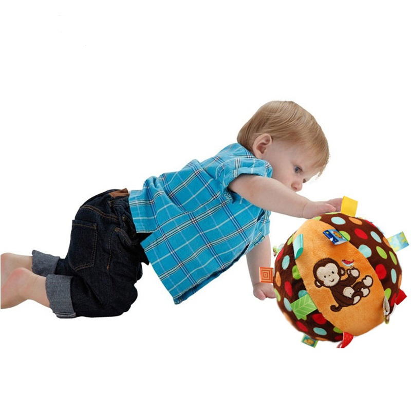 New Baby Toys Infant Rattles Educational Bebe Toys Boys Girls Stuffed Plush Sock Chocalho Ball Bell Cloth Balls Bebe Brinquedos