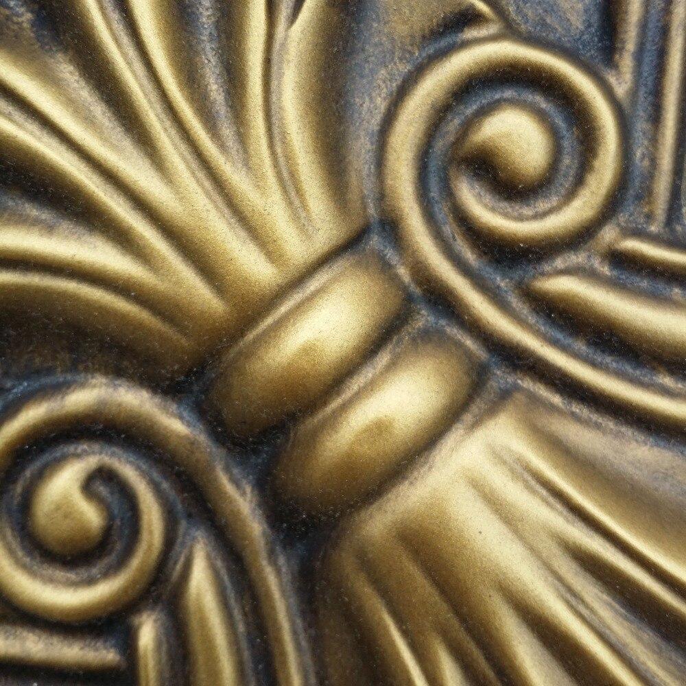 PL11 Old faux paint finishes 3D PVC ceiling tiles antique brass cafe ...