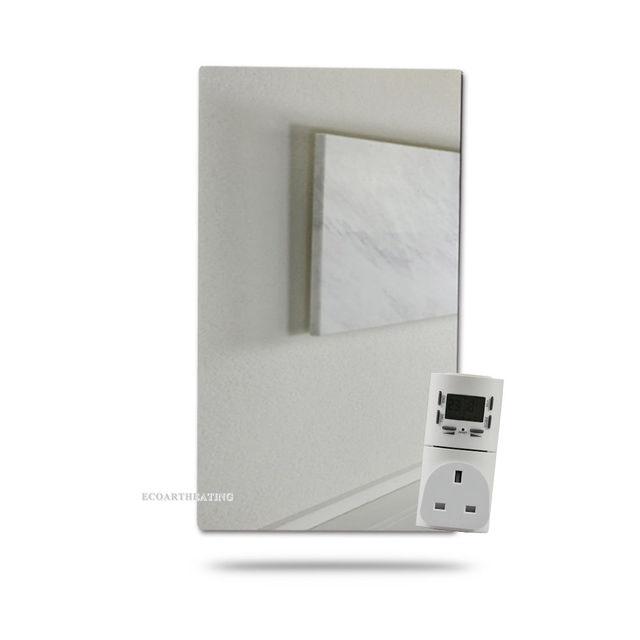 450w Bathroom Heater Infrared Radiant Mirror Heater With Digital Timer  Socket