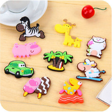 1pcs Mini silicone Cartoon Animal fridge magnets whiteboard sticker Refrigerator Magnets Kids gift Home Decoration Free Shipping