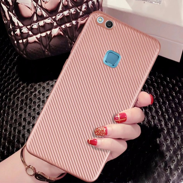 differently c54c9 07765 US $2.0 22% OFF|Aliexpress.com : Buy Case Cover For Huawei P10 Lite Case  Rose Gold Anti Knock Carbon Fiber Cover Case Back cover phone Cases For ...