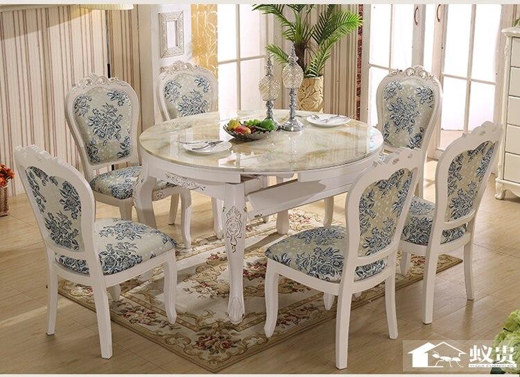 De Madera de lujo comedor extensible mesa y silla con talla H801