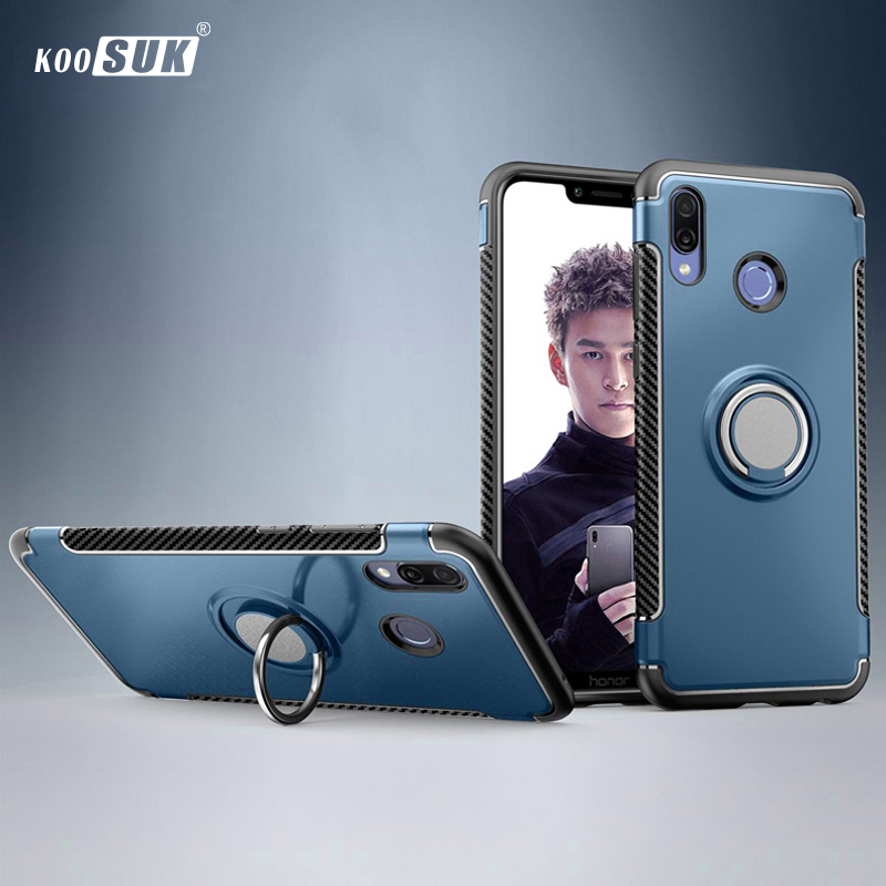 Huawei Honor 8X Case Cover Armor 360 Full Protection Ring Magnetism Holder TPU+PC for Huawei Honor 8X 8 X Car Cases 6.5 Fundas image