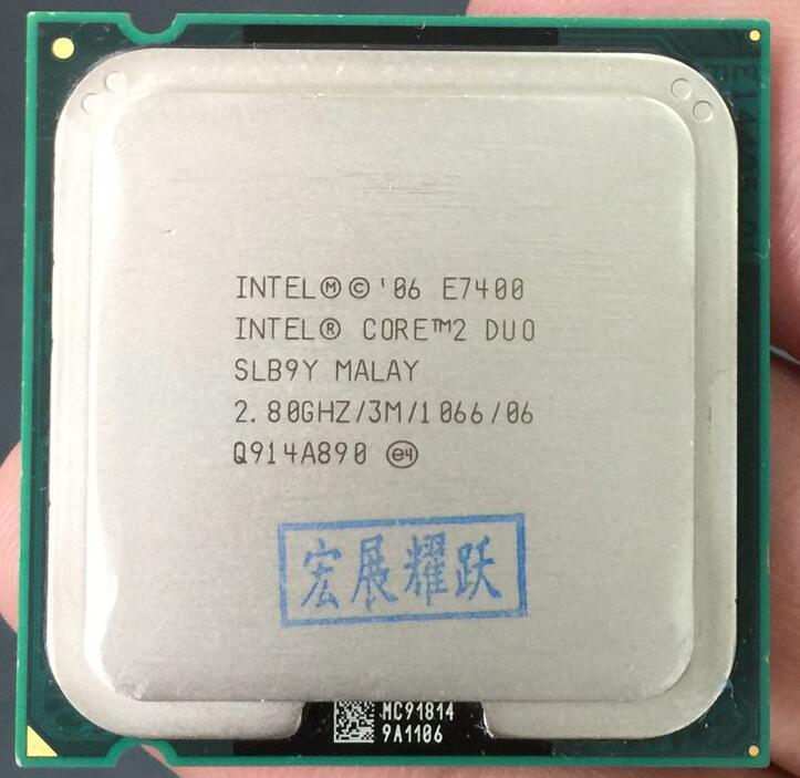 Free Shipping Original Intel Core 2 Duo E7400 Processor(2.8GHz/ 3M /1066MHz)Desktop LGA775 CPU
