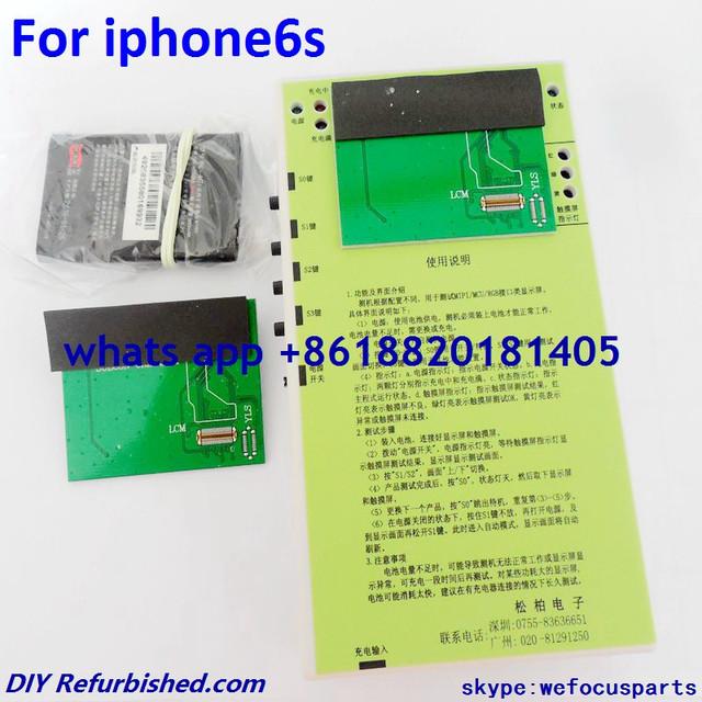 Para iphone 6 s 4.7 polegada lcd display & touch screen digitador tela sensível ao toque placa de teste testador para iphone 6 s 4.7 polegada